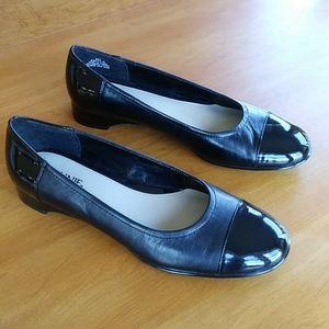 Connie Leather Black Ballet Flat Shoes 9